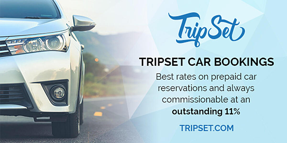 TripSet Car Bookings: Best rates on prepaid car reservations and always commissionable at an outstanding 11% | tripset.com